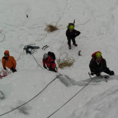 cascate di ghiaccio scuola cai dinamica verticale